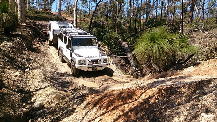 pulling a trailer offroad training
