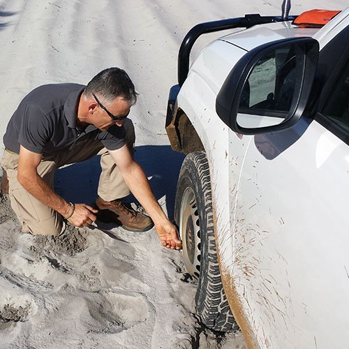 sand-driving-course