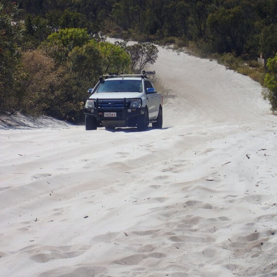 Avoid getting bogged, learn correct 4WD sand driving techniques with a Perth four-wheel drive training facility.